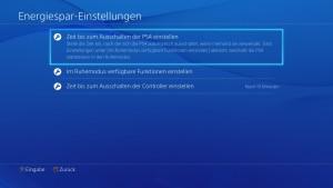PS4 Energie-Einstellungen