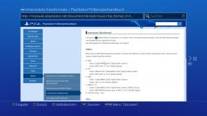 PS4 Mediaplayer Videoformate