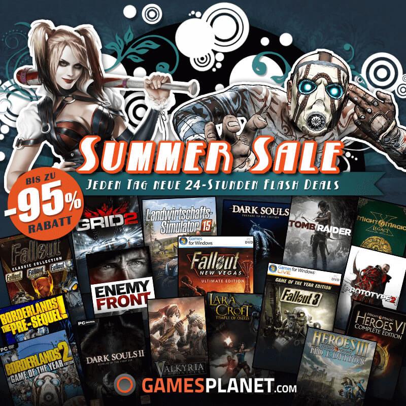 Summer SALE auf Gamesplanet – Spiele Schnäppchen Tag 2