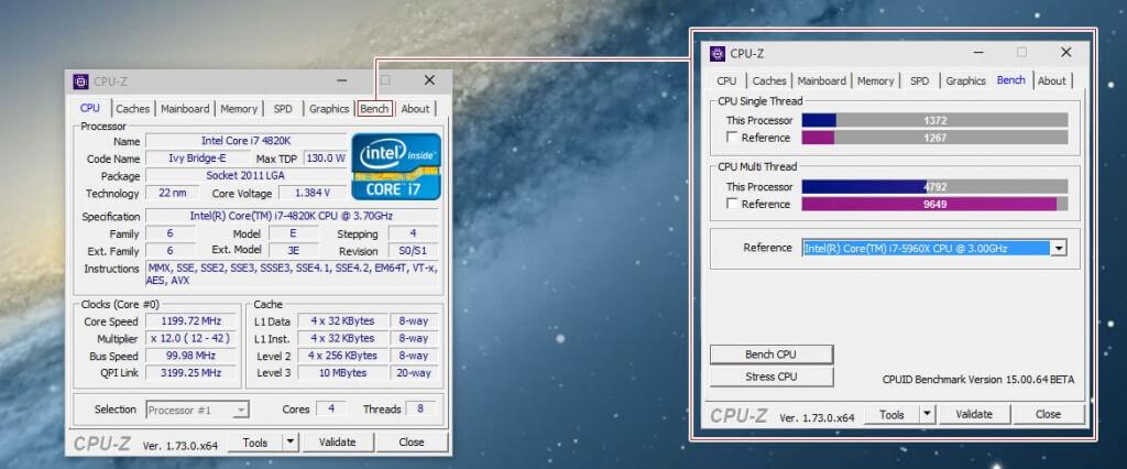 CPU-Z jetzt mit Benchmark und Stresstest