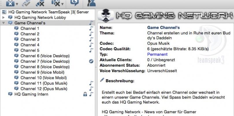 HQ Gaming Teamspeak 3 Server wieder Online