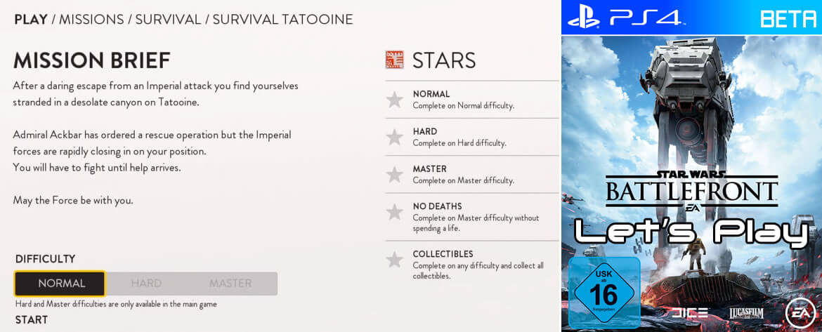 STAR WARS Battlefront Beta – Survival Tatooine Let's Play – Part 1