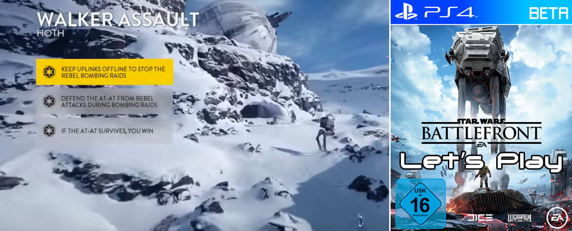 STAR WARS Battlefront Beta – Walker Assault auf Hoth – Imperium Let's Play