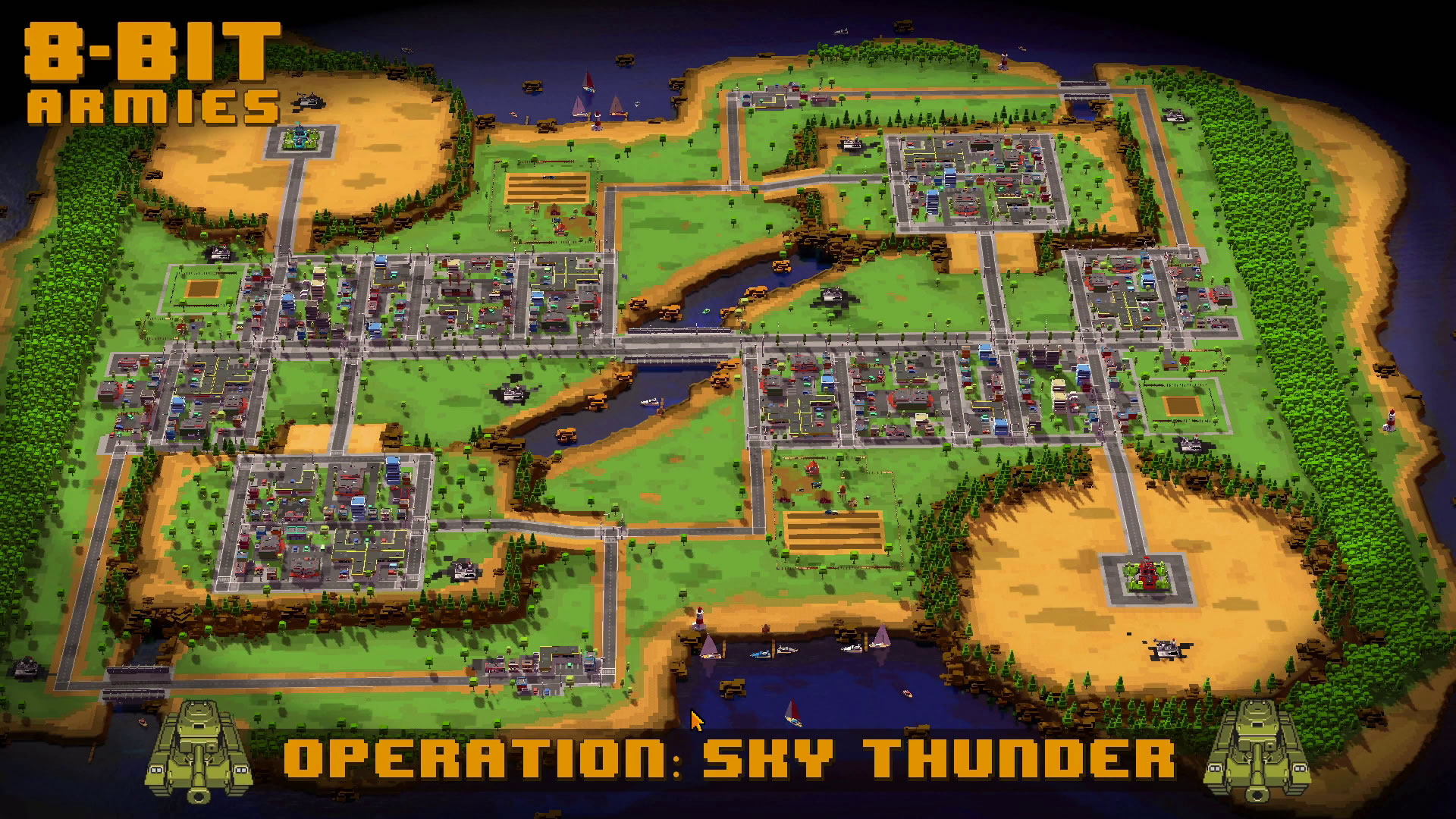 8-Bit Armies – Let's Play: BETA Singleplayer Mission 2 – SKY THUNDER