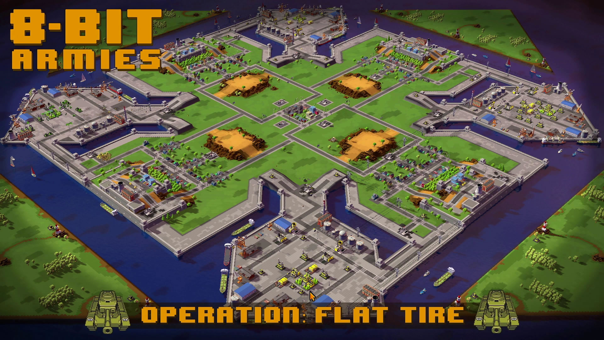 8-Bit Armies – Let's Play: BETA Singleplayer Mission 4 – FLAT TIRE