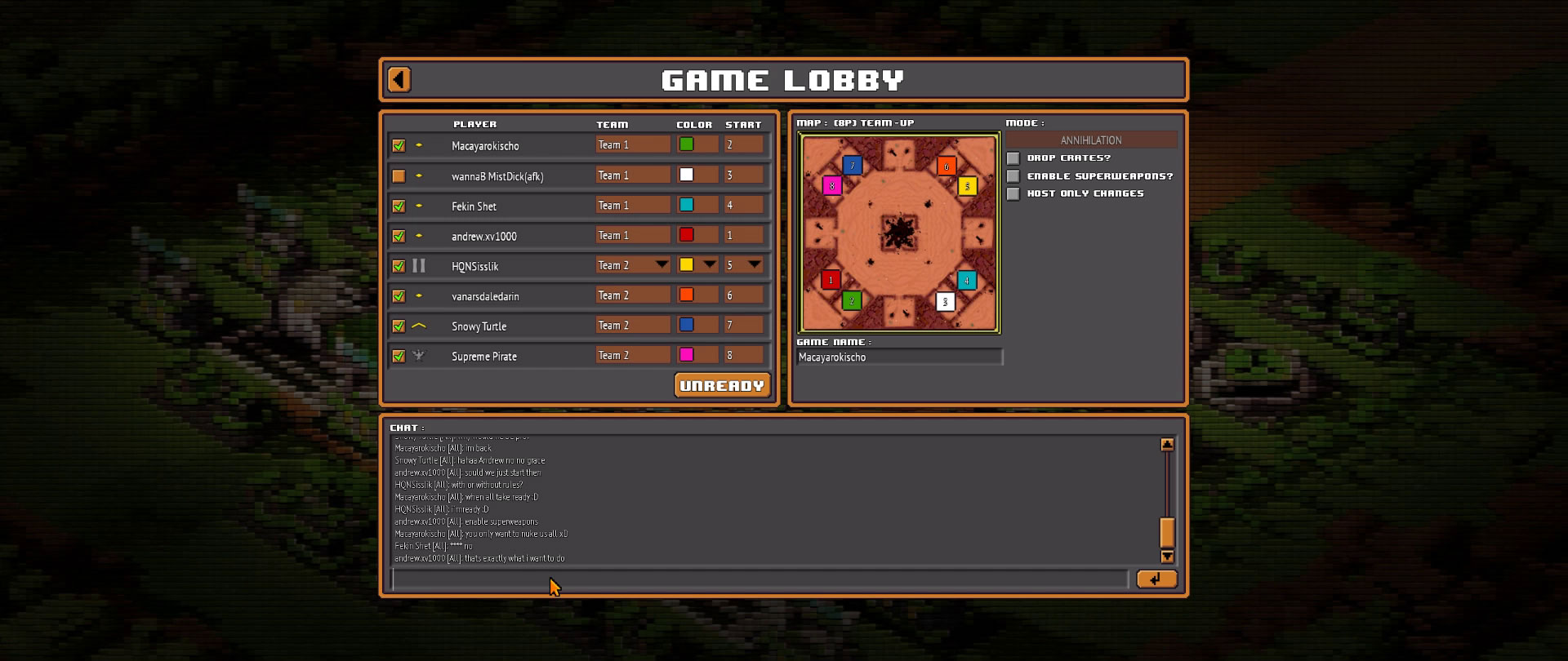 8-Bit Armies – Let's Play: BETA Multiplayer 4vs4 MAP 8P TEAM UP