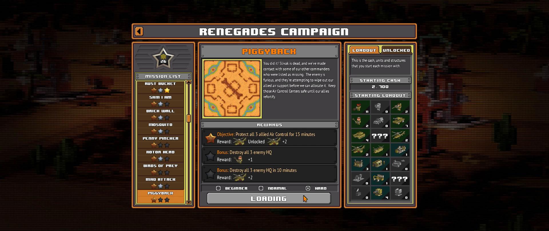 8-Bit Armies – Let's Play: BETA Singleplayer Mission 13 – PIGGYBACK – Game Nr. 2