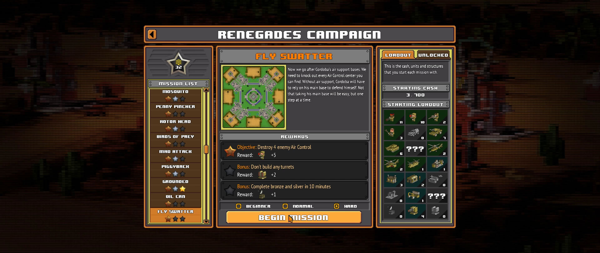 8-Bit Armies – Let's Play: BETA Singleplayer Mission 16 – FLY SWATTER Game Nr. 2