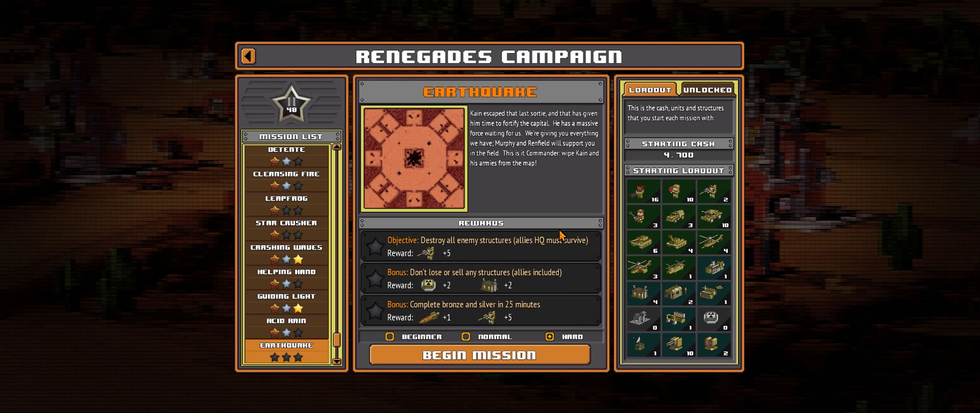8-Bit Armies – Let's Play: BETA Singleplayer Mission 25 – EARTHQUAKE