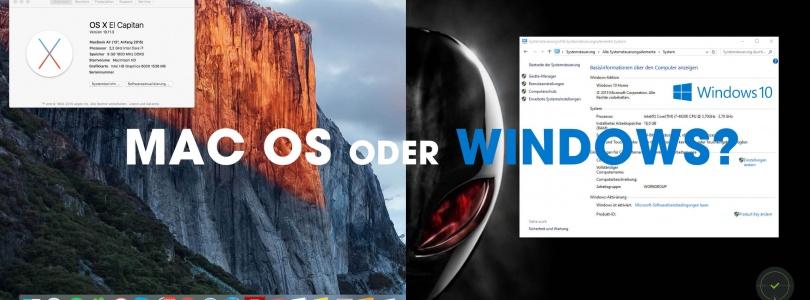 Windows oder Mac Os? Mein Resümee nach 7 Jahren.