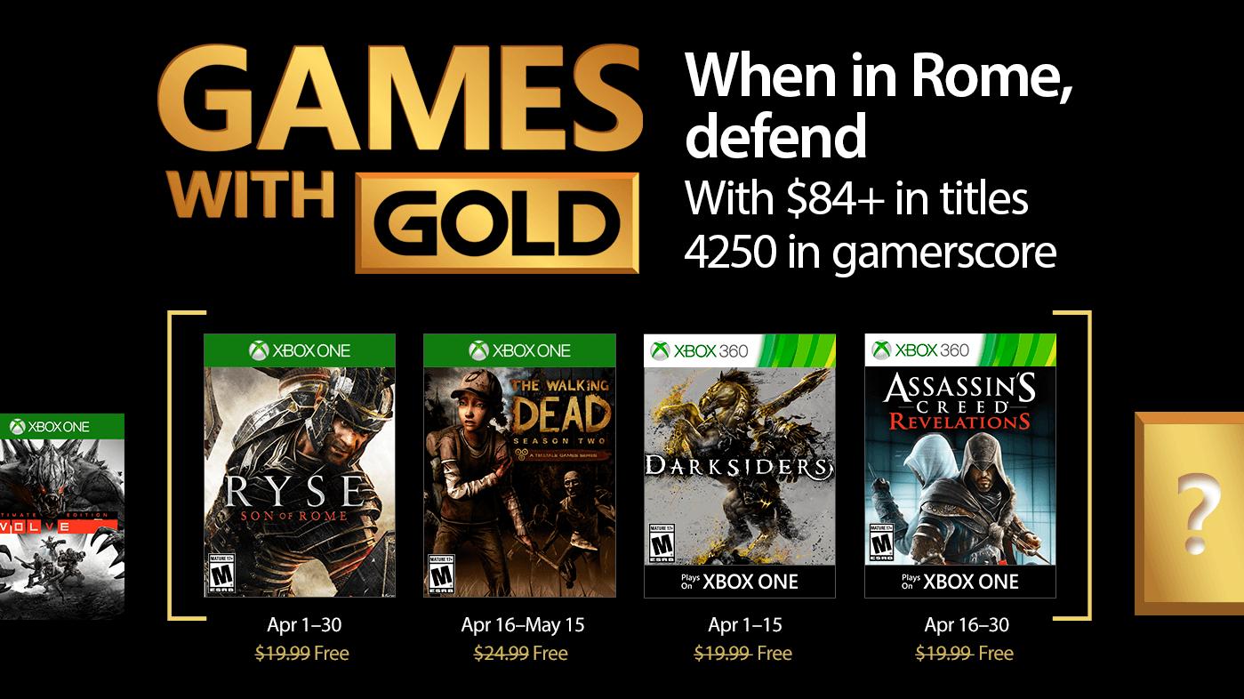Games with Gold – Zeitsprung, Zombies & Zorn der Götter, dass sind die Games with Gold im April