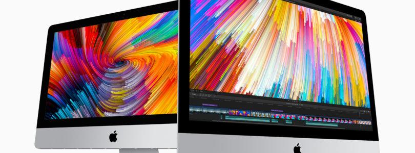 Apple – iMac erhält bedeutendes Update mit leistungsstärkerer Grafik, schnelleren Prozessoren, Thunderbolt 3 und helleren Displays