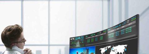 Samsung – Der neue 49 Zoll Gaming Monitor von Samsung im Business-Setup