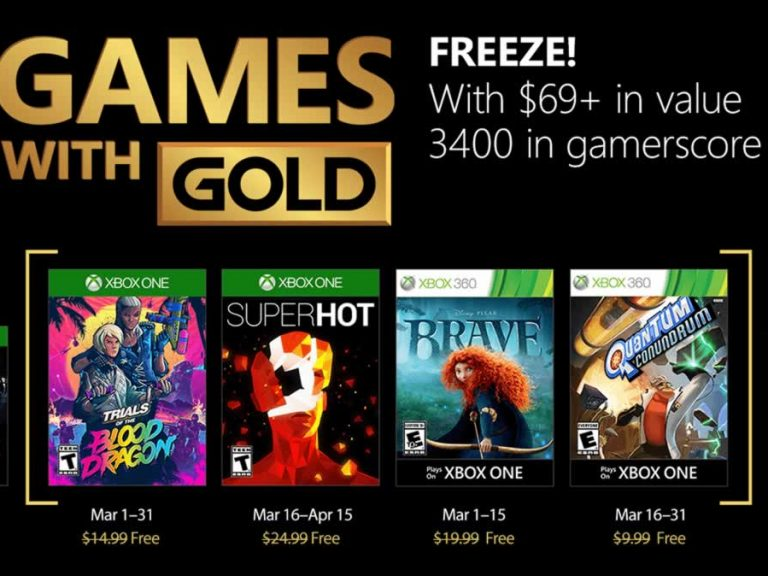 Xbox Games – Games with Gold im März